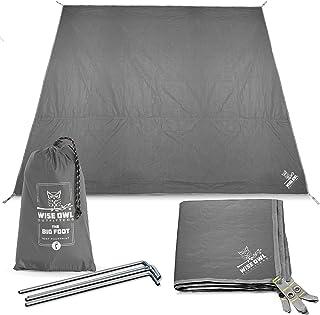 Ultralight Ground Sheet Mat for Hiking Clostnature Tent Footprint Heavy Duty Tent Floor Saver 73 x 76 Backpacking Hammock Beach Waterproof 4 Person Camping Tarp Storage Bag Included