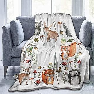 Christmas Blankets Microfiber Blanket Cartoon Deer Bear Walnut Nursery-Light Weight(93