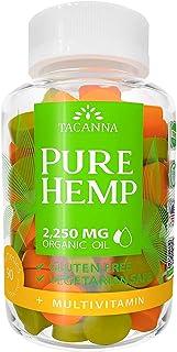 Tacanna Natural Hemp Gummies - Ultra Volume 2250Mg - 90pcs - Premium Hemp Extract - Relieve Stress, Pain and Anxiety - Ome...