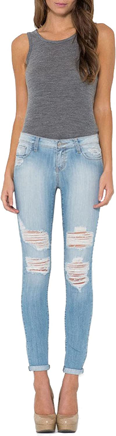 Cello Jeans Women's Light bluee Distressed Skinny