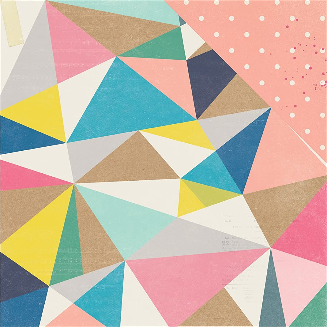 American Crafts 680305 Maggie Holmes Shine Double-Sided Cardstock (25 Sheets Per Pack), 12
