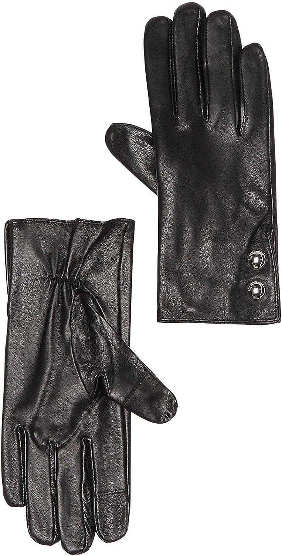 MICHAEL MICHAEL KORS Womens Black Kid Leather Gloves