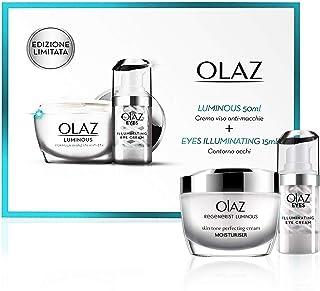 Olaz Luminous Cofanetto Regalo, Crema Viso Antirughe e Antimacchie Giorno, 50 ml ed Eyes Illuminating Crema contro le Occh...