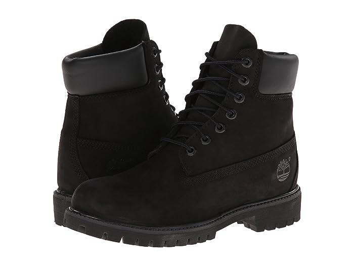 Timberland  6 Premium Waterproof Boot (Black Nubuck) Mens Lace-up Boots