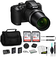 Nikon COOLPIX B600 Point & Shoot 60x Zoom Digital Camera Black 26528 Bundle with 2X 32GB Memory Card + Spare Battery and T...