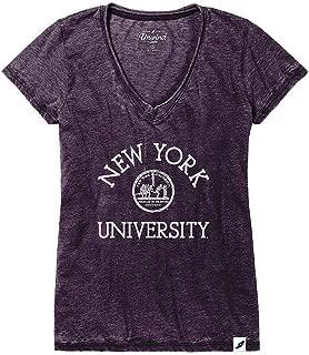 NCAA Womens Vneck Tshirt Burnout Arch