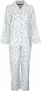 Champion Ladies Blue Sea Wincyette Brushed 100% Cotton Pyjamas 1545