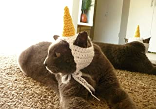 Cat Hat Crochet Pattern Unicorn Cat Costume for Pets Unicorn Hat Puppy Small Dog Hat Cute Kitten Kitty Hat Small Animal Hat Cat Lover Gift
