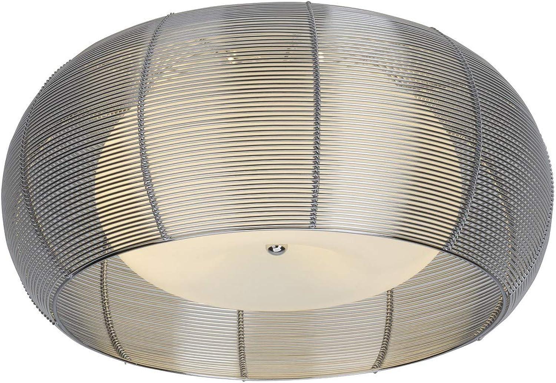 BRILLIANT RELAX Deckenleuchte  50 cm Metall Glas Chrom wei 2-Flammig
