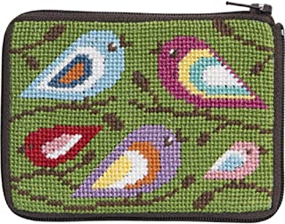 Stitch and Zip Coin Credit Card Case Needlepoint Kit SZ199 Birds of Color