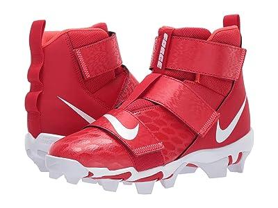 Nike Kids Force Savage Shark 2 Football (Toddler/Little Kid/Big Kid) (University Red/White/Bright Crimson) Kids Shoes