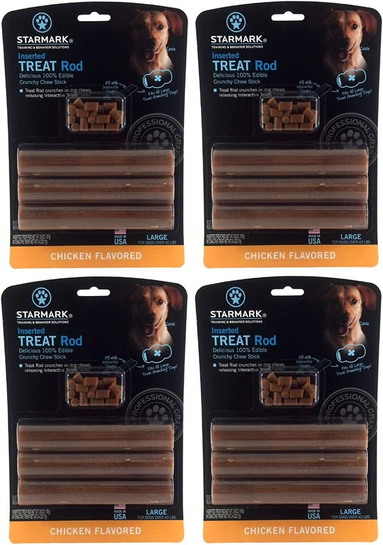 (4 Pack) Star Mark Dog Treat Rod (Large)