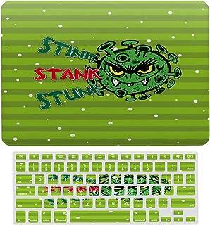 Carcasa rígida para MacBook Stank Stunk Evil Virus de plástico con patrón de virus y funda para teclado solo compatible co...