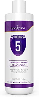 Lipogaine Hair Stimulating Shampoo for Hair Thinning & Breakage, for All Hair Types, Men and Women, Infused With Biotin, Caffeine, Argan Oil, Castor oil and Saw Palmetto (Purple)