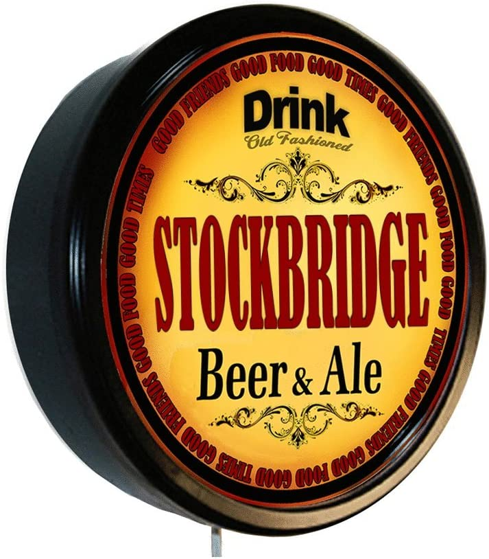 Goldenoldiesclocks Stockbridge Long-awaited Beer and Lighted Cerveza Max 78% OFF Ale Wall