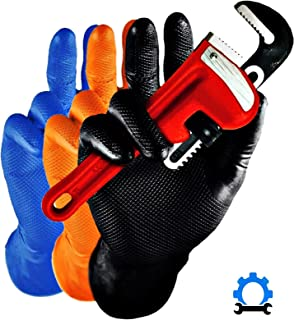 HYGOSTAR GANT EN Nitrile Power Grip, XL, Noir