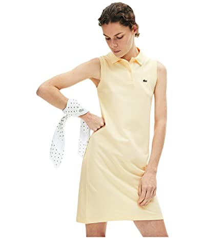 Lacoste Sleeveless Pique Polo Dress (Clusi) Women