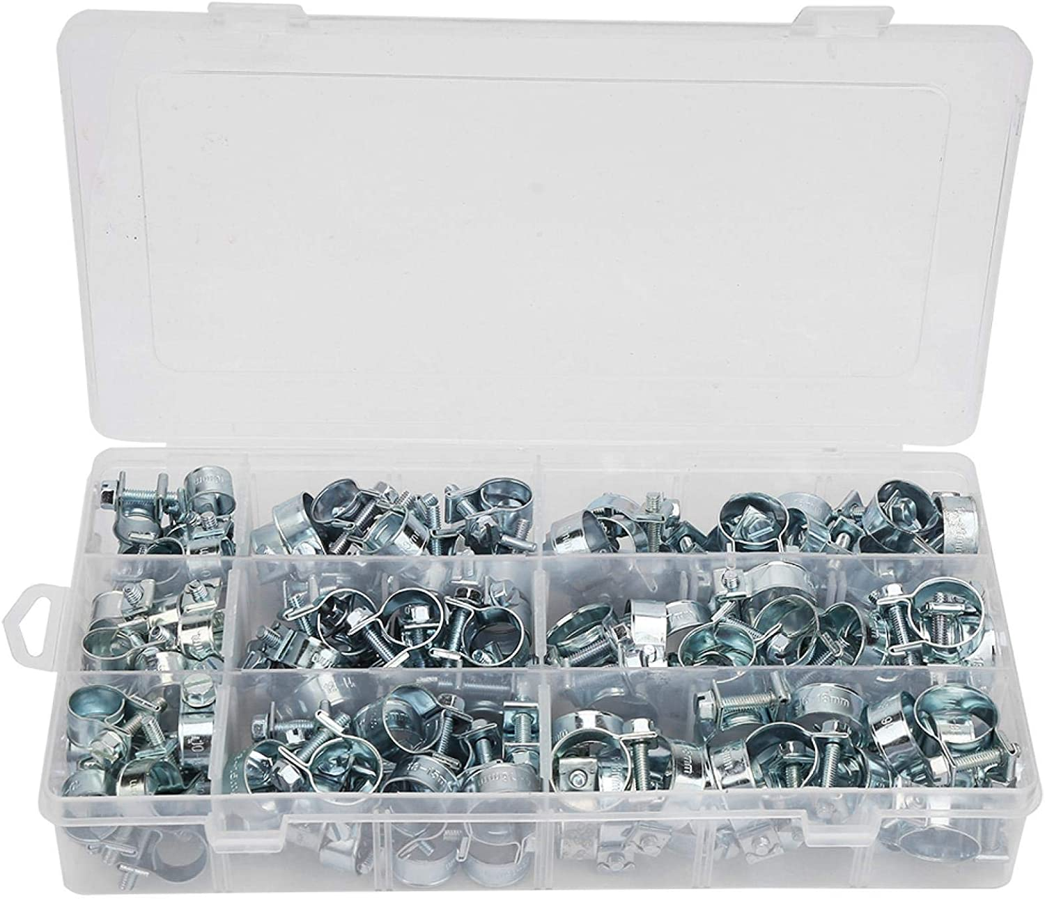 FECAMOS 135Pcs Fuel Pipe Clips Translated Luxury Clamps for Firm Lock Hose