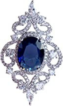 SELOVO Wedding Formal Accessory Cubic Zirconia Brooch Pendant Pin