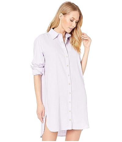 Maaji Pink Floret Long Shirtdress Cover-Up (Lavender Purple Linen) Women
