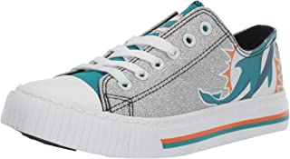 NFL Womens Ladies Glitter Low Top Canvas Sneaker Shoes