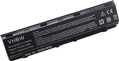 vhbw Akku passend f r Toshiba Dynabook B352 Notebook  6600mAh  10 8V  Li-Ion  schwarz