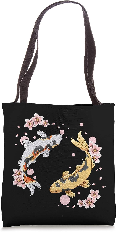 Japanese Koi Fish Carp Pond Japan Tattoo Gift for Koi Lovers Tote Bag