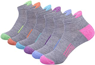 Womens Ankle Athletic Low Cut Tab Socks Cushioned Running Sports 6 Pack