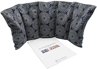 """Cuscino termico """"MANDALAS - BLUE"""" - 50 x 20 cm (XL) - pieno di noccioli di ciliegia 800gr - effetto freddo/caldo . saco te..."""