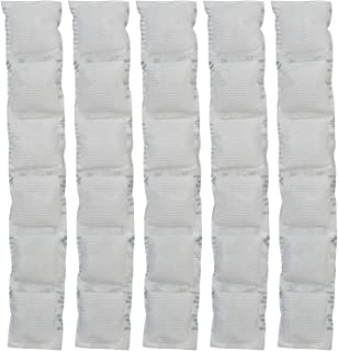 ThermaFreeze Reusable Ice Pack Sheets for Coolers, 2.5x15 1x6 Cells, Long Lasting Reusable Ice Sheets for Coolers & Ice Bandanas, 5 White Made in USA