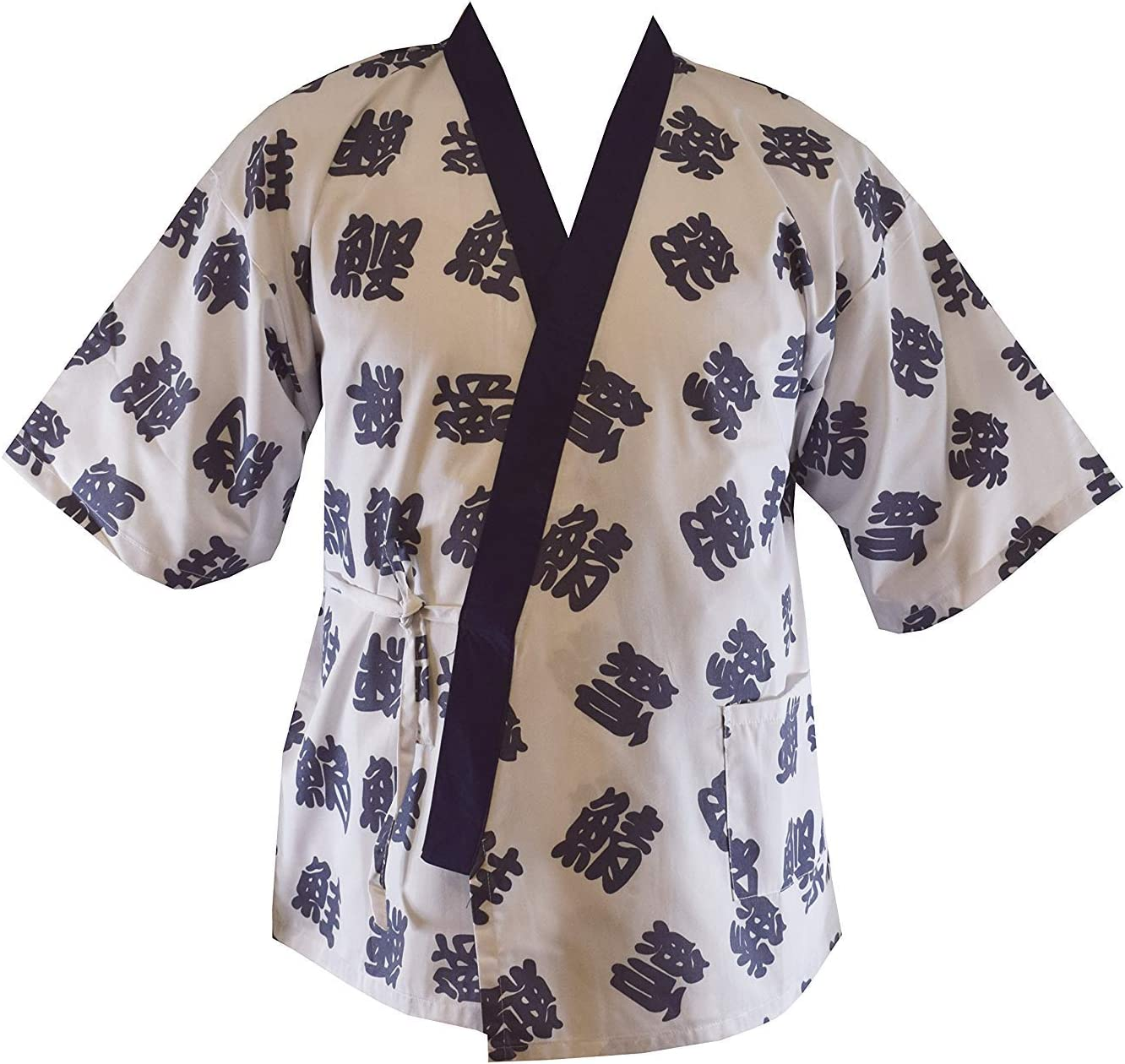 M Size Sushi Chef Jacket Sales for sale Spring new work one after another Black with Headba Japanese Uniform