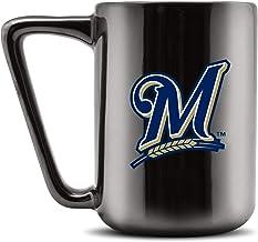 Duck House MLB Milwaukee Brewers Ceramic Coffee Mug - Metallic Black, 16oz