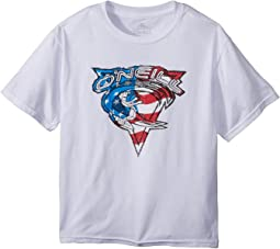 O'Neill Kids - Patriot Short Sleeve Tee Screens Imprint (Big Kids)