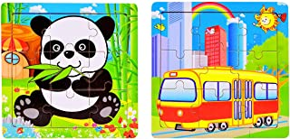 2PCS Wooden Children Toddlers and Toddlers Early Education Puzzle Toys Wooden
