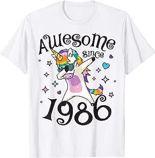 Dabbing Unicorn Awesome since 1986 33rd Birthday Gift 33 yrs