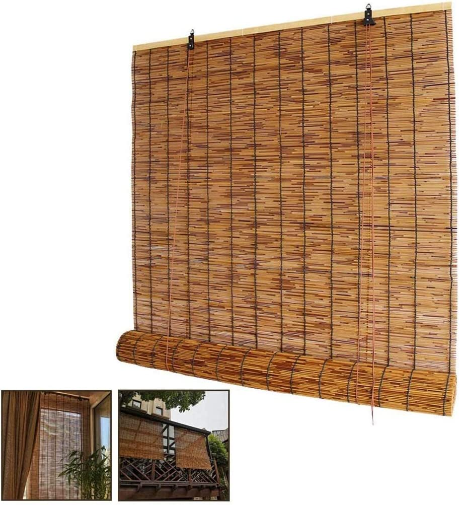ZDDY Natural Reed Curtain San Diego Mall Bamboo Popularity Roller Up Shade Roll Windo