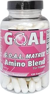 GOAL Naturals - G.O.A.L. Matrix Amino Acids Complex Pills for Women Silver Label 120 Capsules Easier to Swallow - Glycine Ornithine Arginine Lysine Combination Anti-Aging Blend