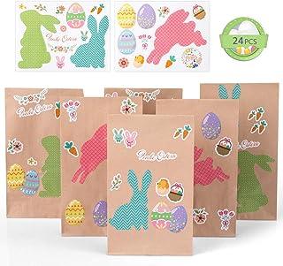 Regalo di Pasqua Decorazione da Parete Decorazione Fai da Te a Forma di Coniglietto in Feltro con Frutta Staccabile e Uova di Pasqua per Bambini LAMF