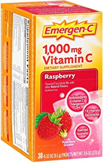 Emergen-C Raspberry Fizzy Drink Mix, 30 Pack