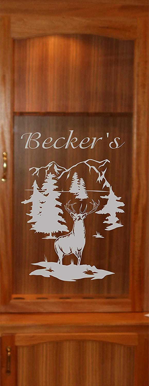 StickerChef Now on sale Deer Buck Opening large release sale Mountains DIY Etched Cabin Gun Vinyl Glass