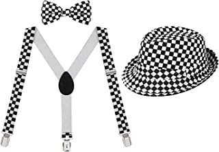 Kids Adjustable Suspenders Boys Pre-Tied Bow Tie and...
