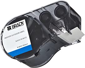 Brady High Adhesion Vinyl Label Tape (MC-1500-595-WT-BK) - Black on White Vinyl Film - Compatible with BMP51 and BMP53 Label Printers - 25' Length, 1.5