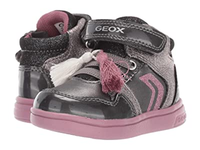 Geox Kids Djrock 30 (Toddler) (Black/Charcoal 2) Girls Shoes