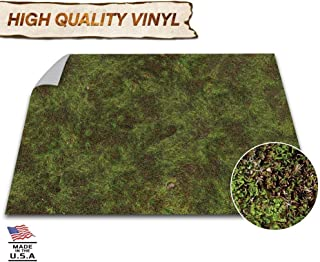 Battle Game Mat - 48x48 - Dungeons & Dragons Tabletop Role Playing Map - Wargaming DnD - RPG Dust Warfare & Flames of War - Miniature Figure Board Games - 40k Warhammer Gaming Vinyl (Dark Moss)
