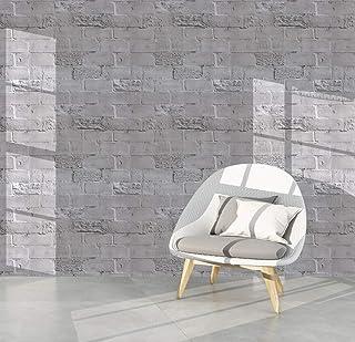 Homya 壁紙シール 45cmx6m レンガ調シール リメイクシート はがせる壁紙 接着剤不要 DIYシート 防水 防カビ ウォールステッカー