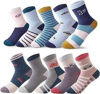 storeofbaby Toddler Kids Boys Girls Socks 10 Pairs Fun Novelty Fashion Cotton Crew Dress Socks