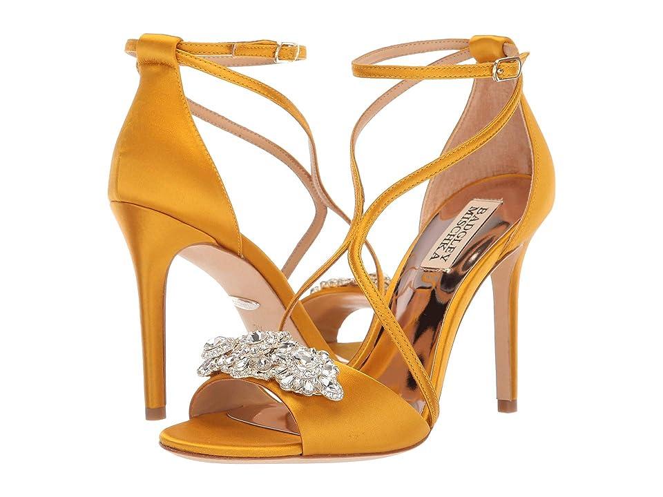 Badgley Mischka Vanessa (Moroccan Gold Satin) High Heels