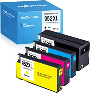 MYCARTRIDGE Remanufactured Ink Cartridge Replacement HP 952XL 952 XL (1 Black 1 Cyan 1 Magenta 1 Yellow, 4-Pack)