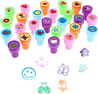 LUCKYBIRD Stamps for Kids, Best Sell Self Inking Stamps Heart Toy Stamp/Kids Stamp Set/Funny Plastic Stamps, 26 Count