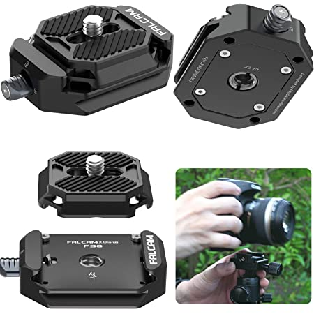 """FALCAM F38 Camera Quick Release Plate w 1/4"""" to 3/8"""" Screw Thread, Quick Release System QR Plate Camera Tripod Mount Adapter for Sony Canon Monopod DSLR Stabilizer Slider DJI Switch Between Stablizer"""